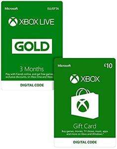 3 Monate Xbox Live Gold + £10 Xbox Live Guthaben für 16,82€ (Game UK & Amazon UK)