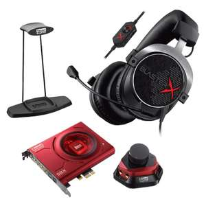 Creative Gaming Bundle Soundblaster Headset HX5 Soundkarte ZX + Headsetständer