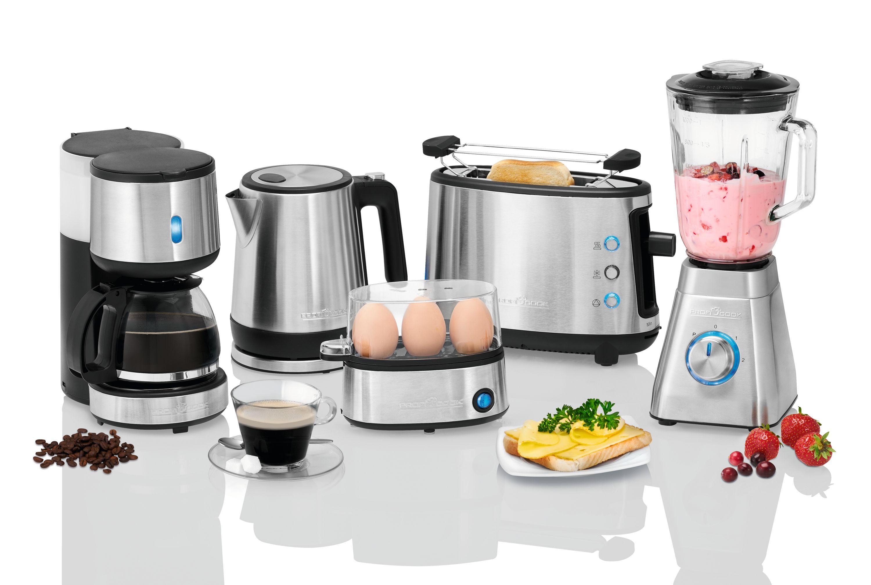 Single-Deal: Frühstücks-Set von ProfiCook (Eierkocher, Kaffeemaschine, Toaster, Wasserkocher, Standmixer)