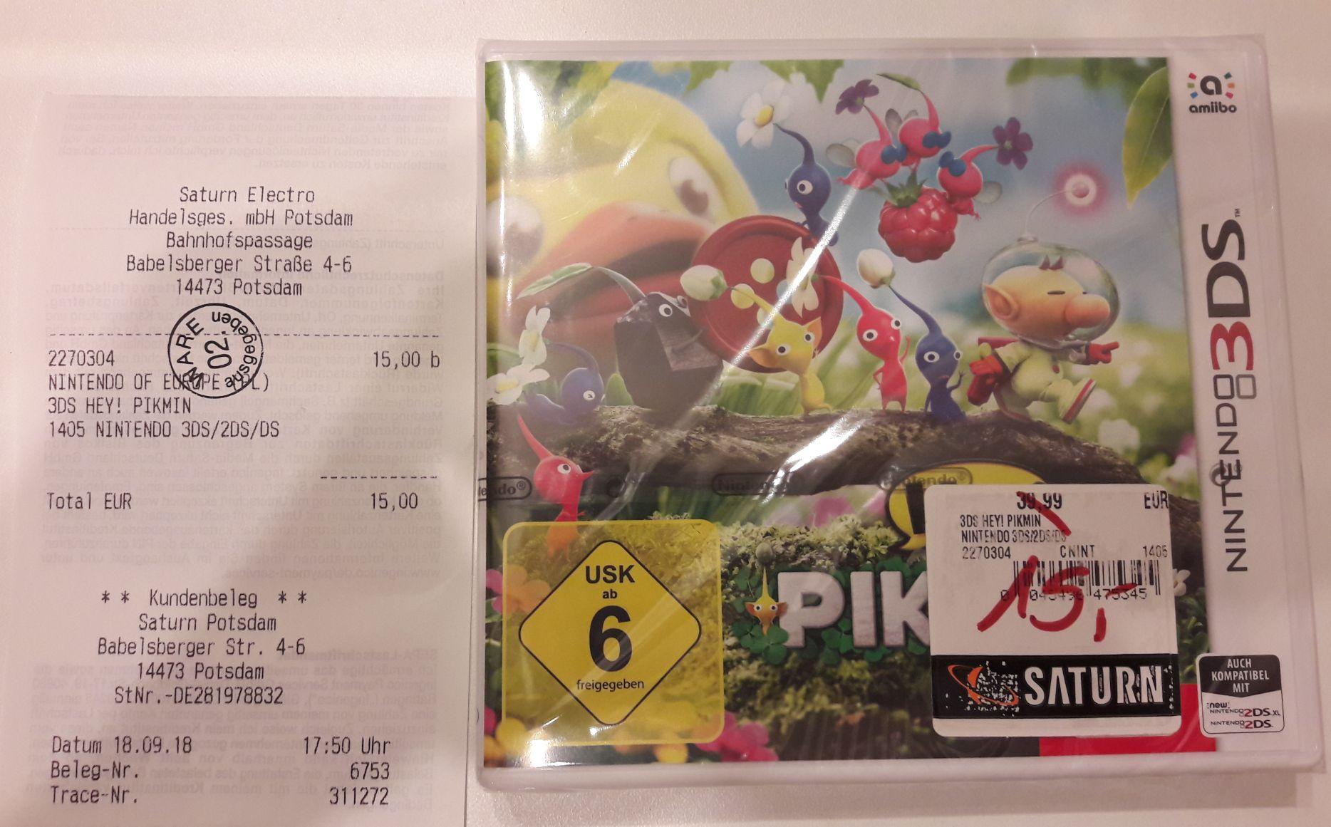 "[Lokal] ""Hey! Pikmin"" für Nintendo 3DS im Saturn Potsdam"