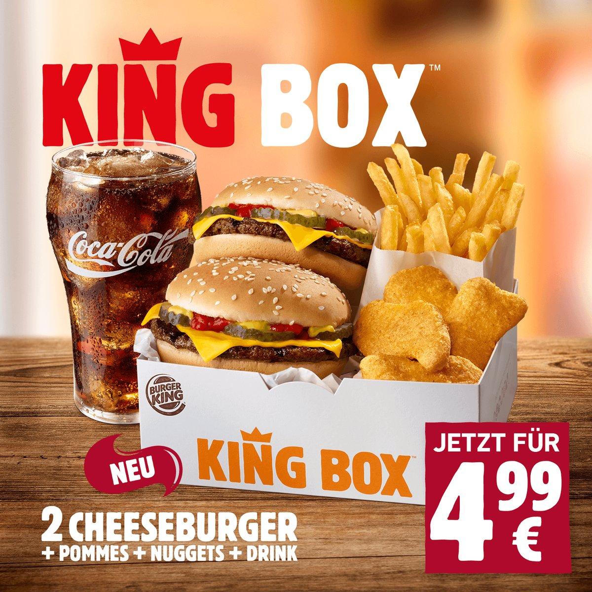 Die Wahnsinns King Box von Burger King für 4,99 €