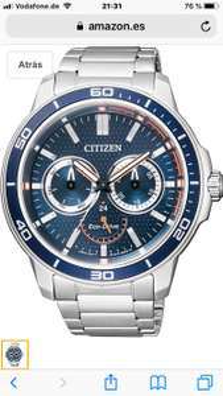 Citizen Herren-Armbanduhr Analog Quarz Edelstahl BU2040-56L bei Amazon.es