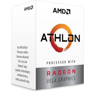"""""""Micro-Ryzen"""";  AMD Athlon 200GE 2x3,2Ghz (2C/4T), Vega 3 Grafik, mit Kühler"""