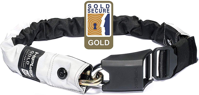Hiplok Gold Kettenschloss, Variante Superbright, auch als Gürtel tragbar für Fahrrad (Roller?) [Amazon]