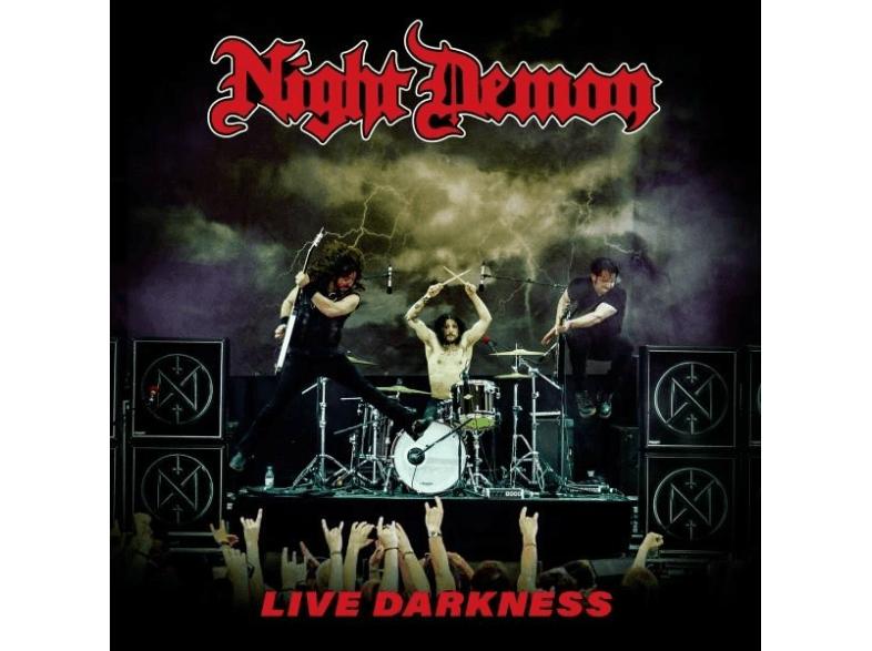 Night Demon - Live Darkness, RED VINYL, 3 LP + 2 Bonus-CD [bei Marktabholung abzgl. 1,99 € VSK, also nur 14,99 €] [Media Markt, Saturn, inkl. VSK]