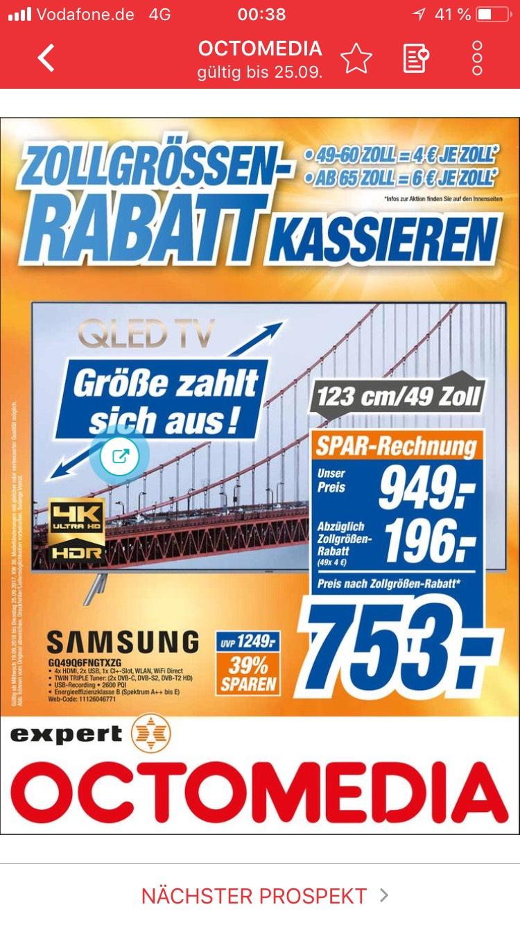 [LOKAL Rastatt] Expert Octomedia Samsung GQ49Q6F 49 Zoll QLed für 753 €