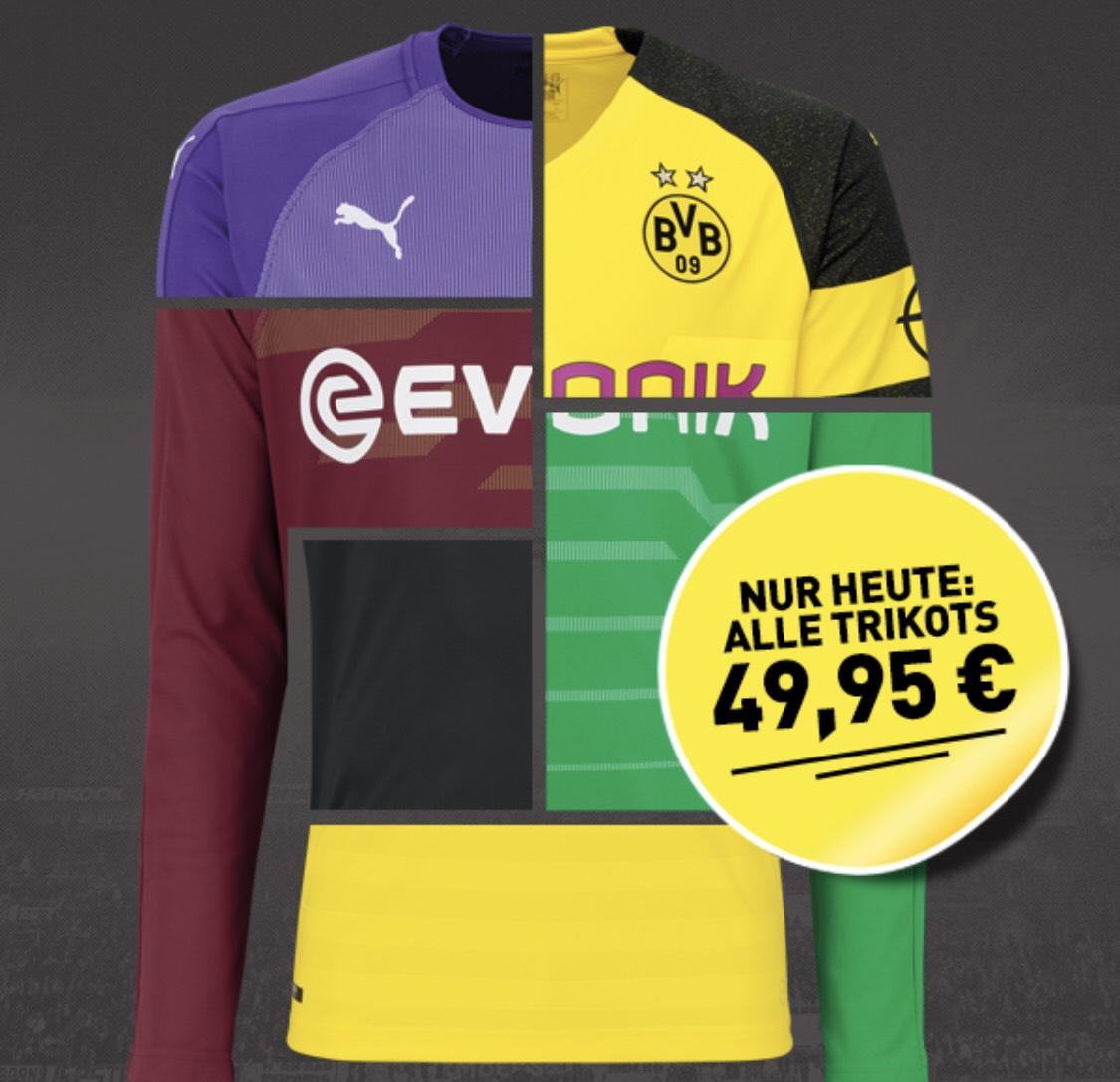 [BVB Fanshop] Heute alle Trikots von Borussia Dortmund für 49,95€