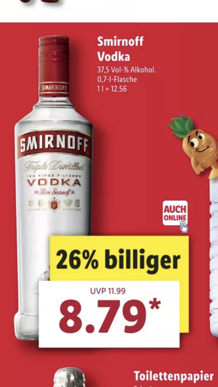 Smirnoff Vodka 24.09-29.09 LIDL