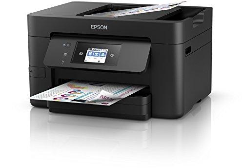 Epson C11CF74402 Workforce Pro WF-4720DWF Multifunktionsgerät (Drucker, Scanner, Kopierer, Fax, ADF, Wifi, Ethernet, NFC, Duplex, Einzelpatronen)
