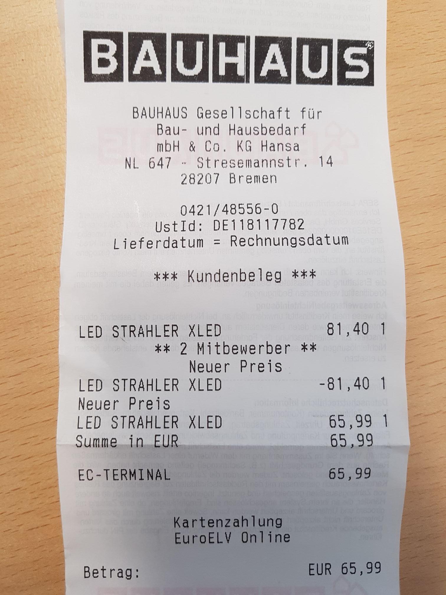 [Bauhaus TPG] Steinel XLED Home 2 (mit Bewegungsmelder) schwarz