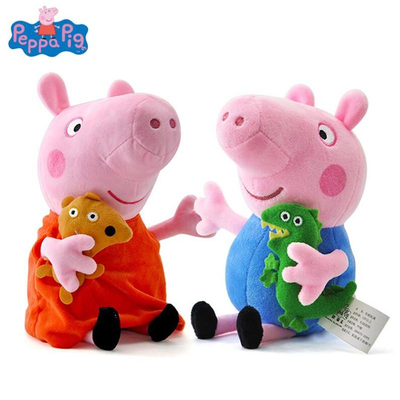 Verschiedene Peppa Wutz (Peppa Pig) 19cm Plüsch Figuren zum Bestpreis bei Aliexpress (Flash Sale)