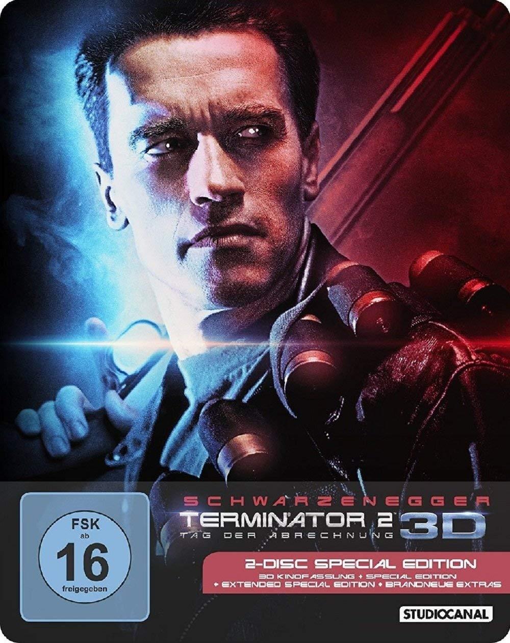 Terminator 2 - Tag der Abrechnung 3D - Limited Steelbook Edition (3D Blu-ray + Blu-ray) für 12,98€ (JPC)