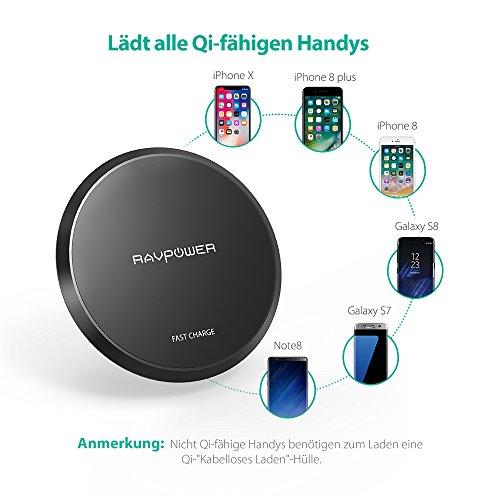 RAVPower Wireless Charger 10W QI Amazon BLITZANGEBOT