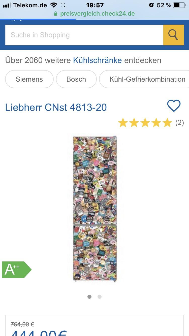 [EuronicsXXL] inkl VSK. LIEBHERR CNst 4813-20 A++ Sticker Art