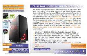Gaming PC / Intel i5-8500, Geforce GTX 1070 Dual (csl)
