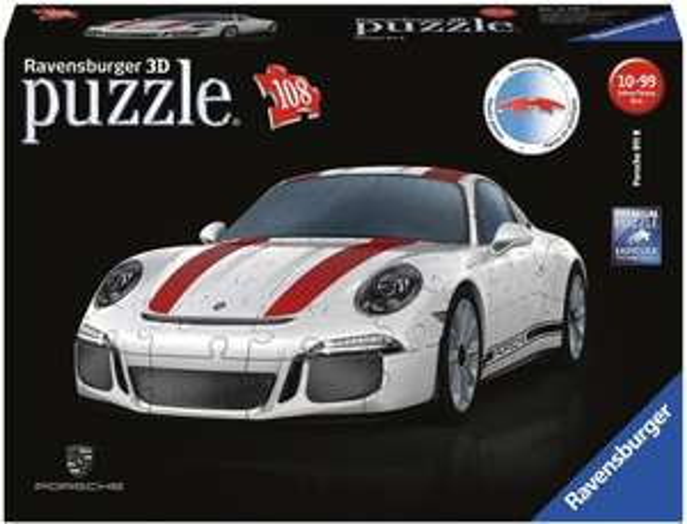Porsche 911 als 3D Puzzle von Ravensburger - 108 Kunststoffteile für Erwachsene und Kinder ab 10 Jahren