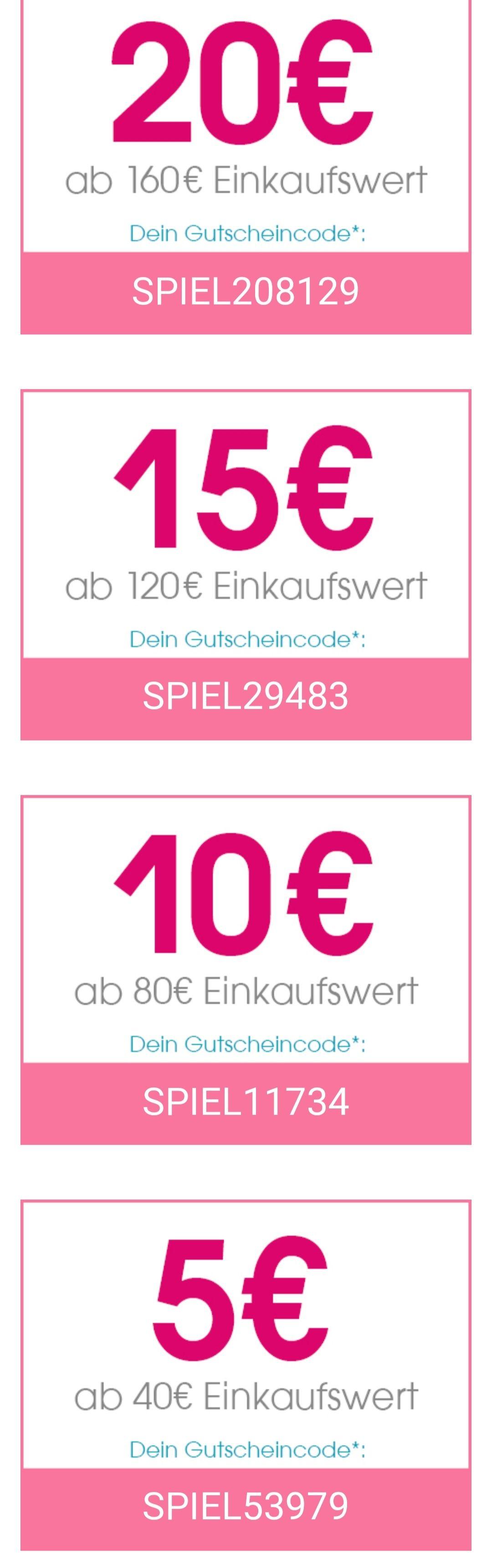 Sammeldeal Babymarkt Spielzeugaktion, Direktrabatt | 5€ ab 40€ | 10€ ab 80€ | 15€ ab 120€ | 20€ ab 160€ | Beispiele unten