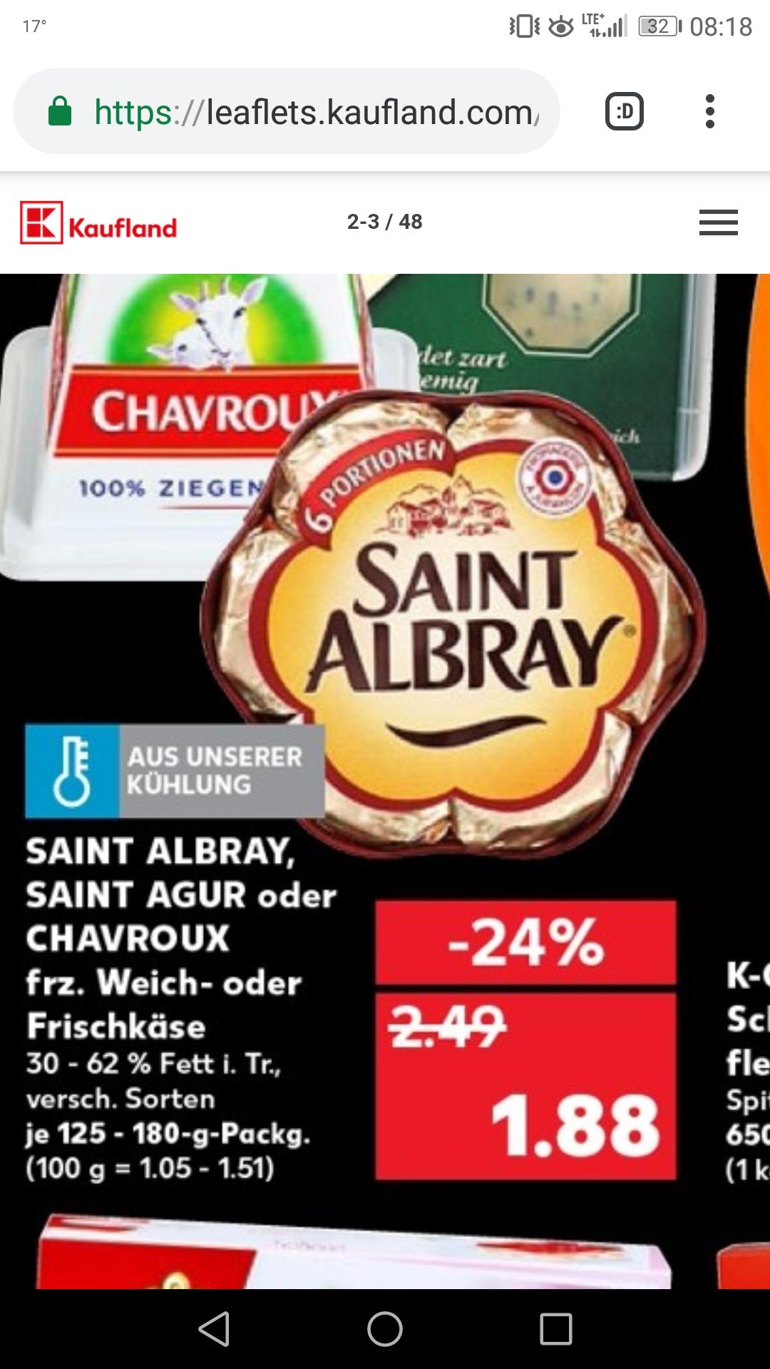 [ kaufland bundesweit ] Saint albray L'intense für 1,88€ plus 0,50€ scondoo Cashback