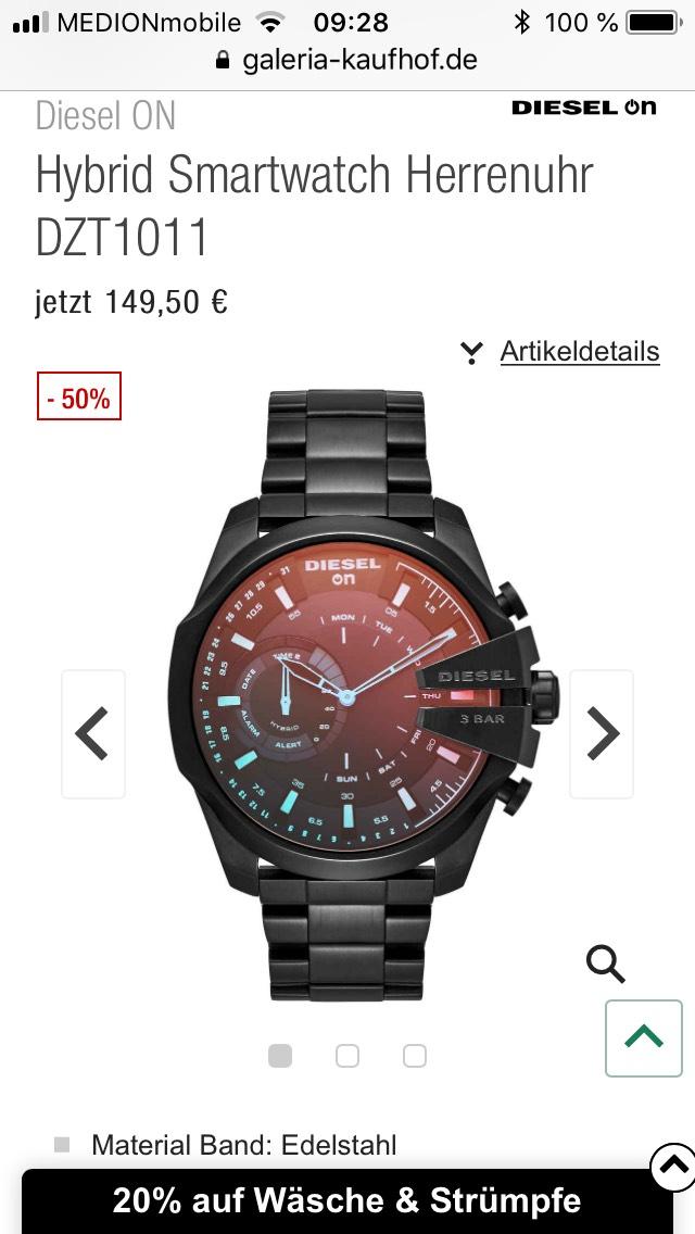 Diesel ON Hybridwatch Unschlagbarer Bestpreis! (AUCH AMAZON)