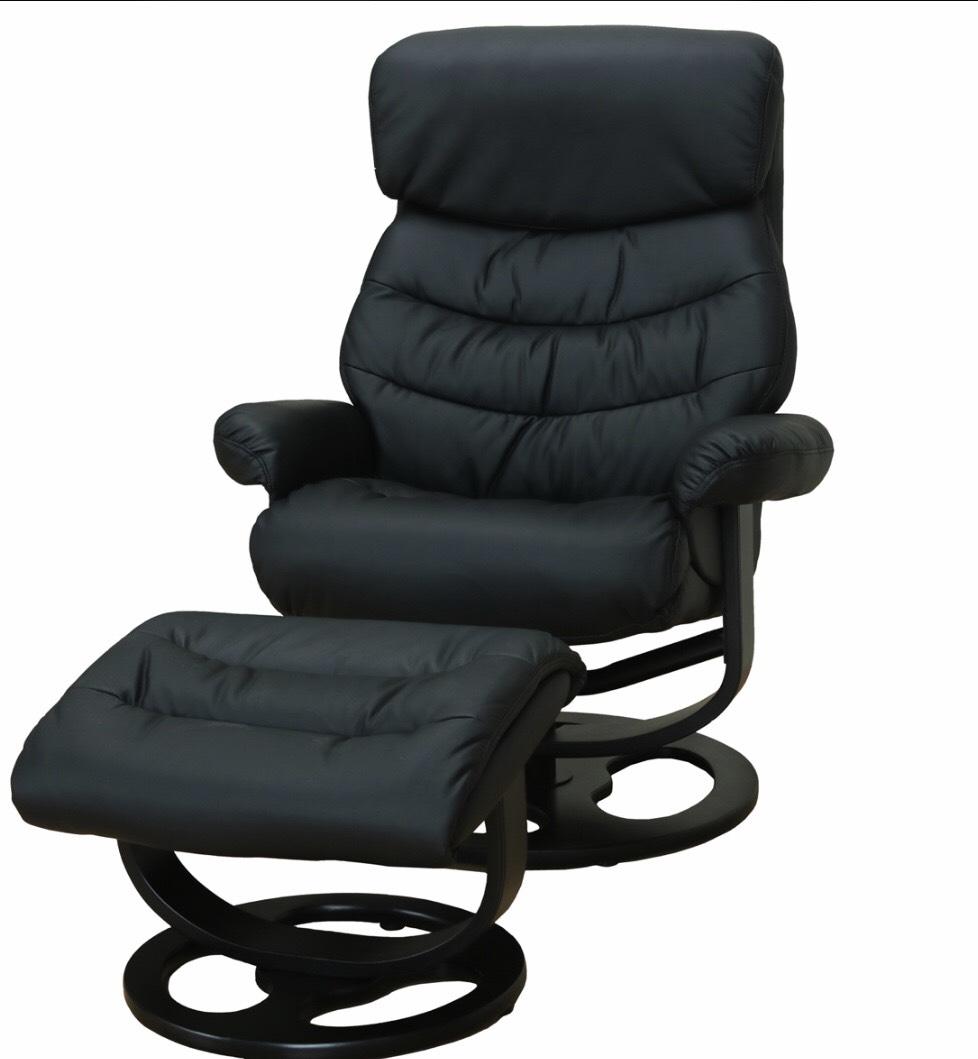 Kunstleder Relax Sessel + Hocker Fernsehsessel Polstersessel Wohnzimmer  Schwarz Für 149u20ac
