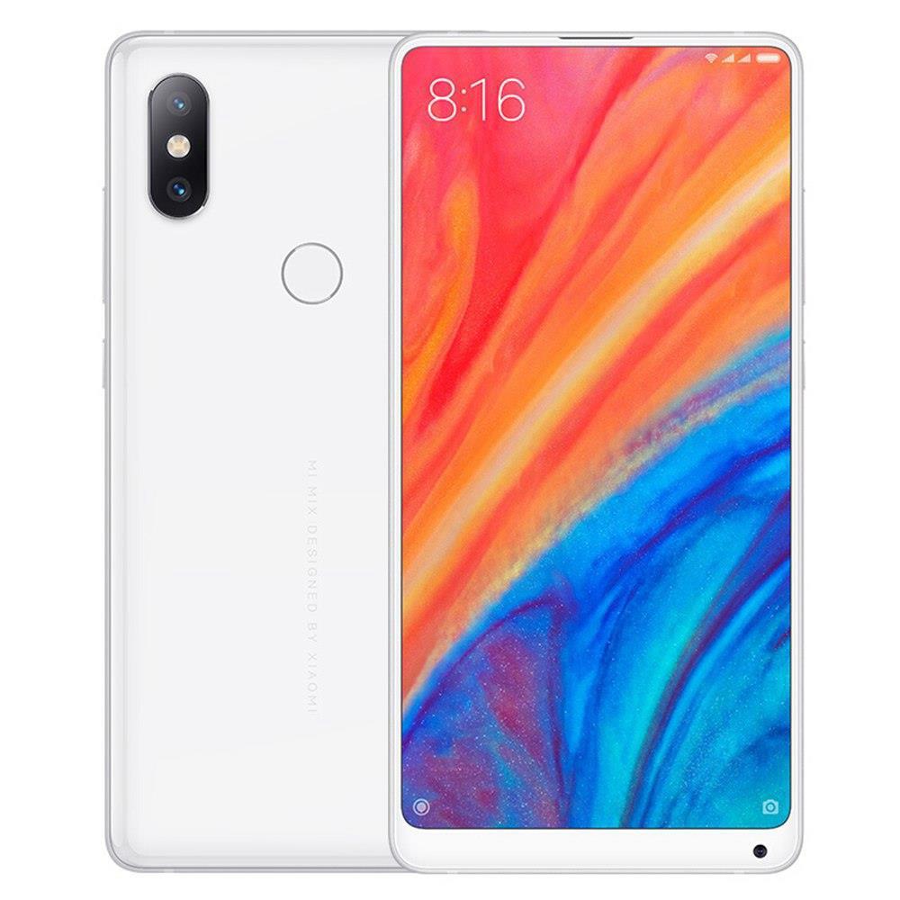 Global Version Original Xiaomi Mi Mix 2S 6GB 128GB 5.99 Inch Smartphone SD 845 Type-C Ceramic Body Wireless Charging - White