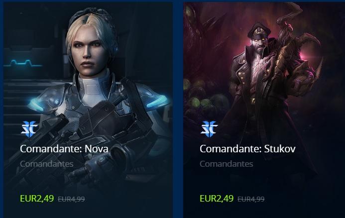 Starcraft 2 Commander Nova & Stuckov (DLCs) für Coop - Multiplayer