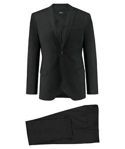 """[engelhorn - ebay] s. Oliver Black Label Herren Anzug """"Cosimo Flex"""" Slim Fit zweiteilig Schwarz"""