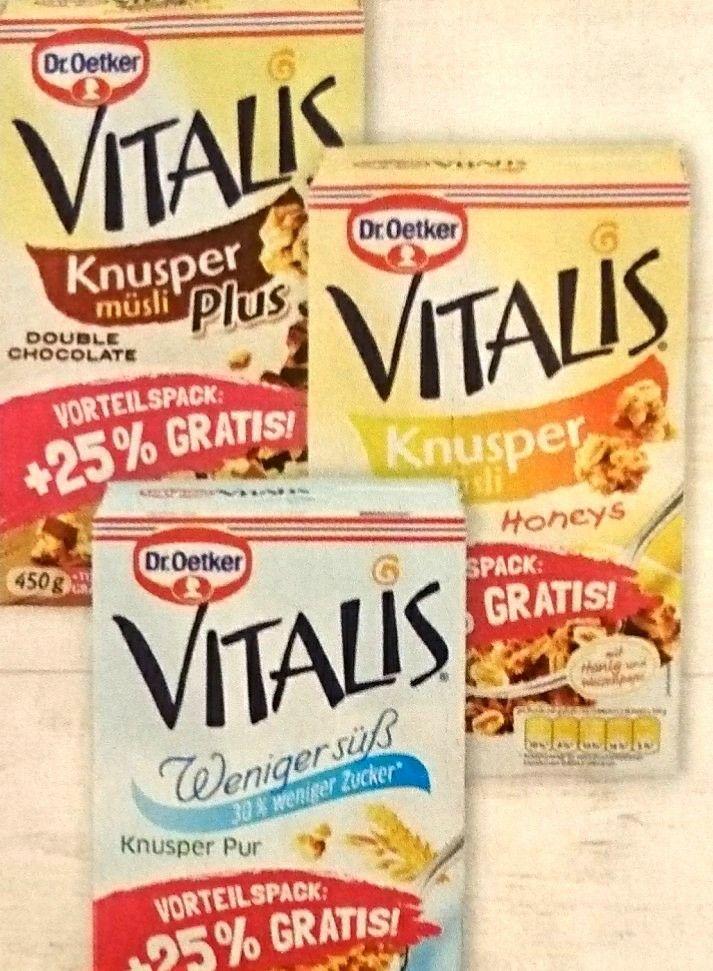 Dr. Oetker Vitalis Müsli VORTEILSPACK (+25%) im Aldi Nord.