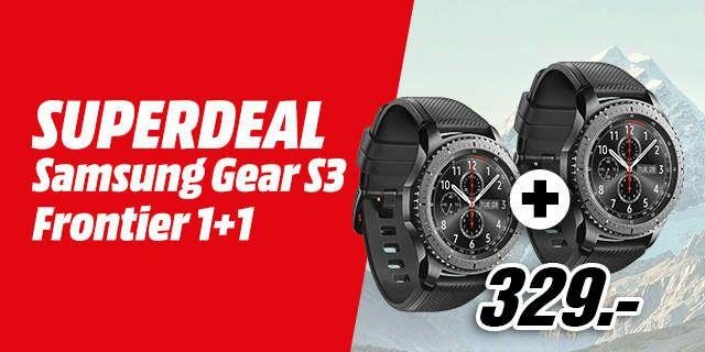 2x Samsung Gear S3 Frontier Smartwatch für 339€ inkl. Versand nach DE (Mediamarkt.at)