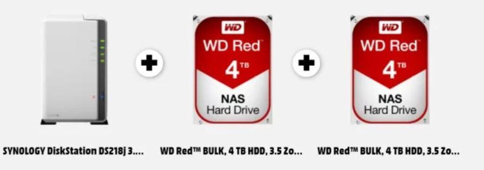 [MediaMarkt] Synology NAS-Systeme mit Festplatten reduziert mit zus. MINUS 19%