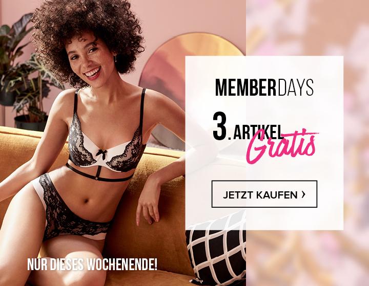 Memberdays bei Hunkemöller: 3. Artikel gratis