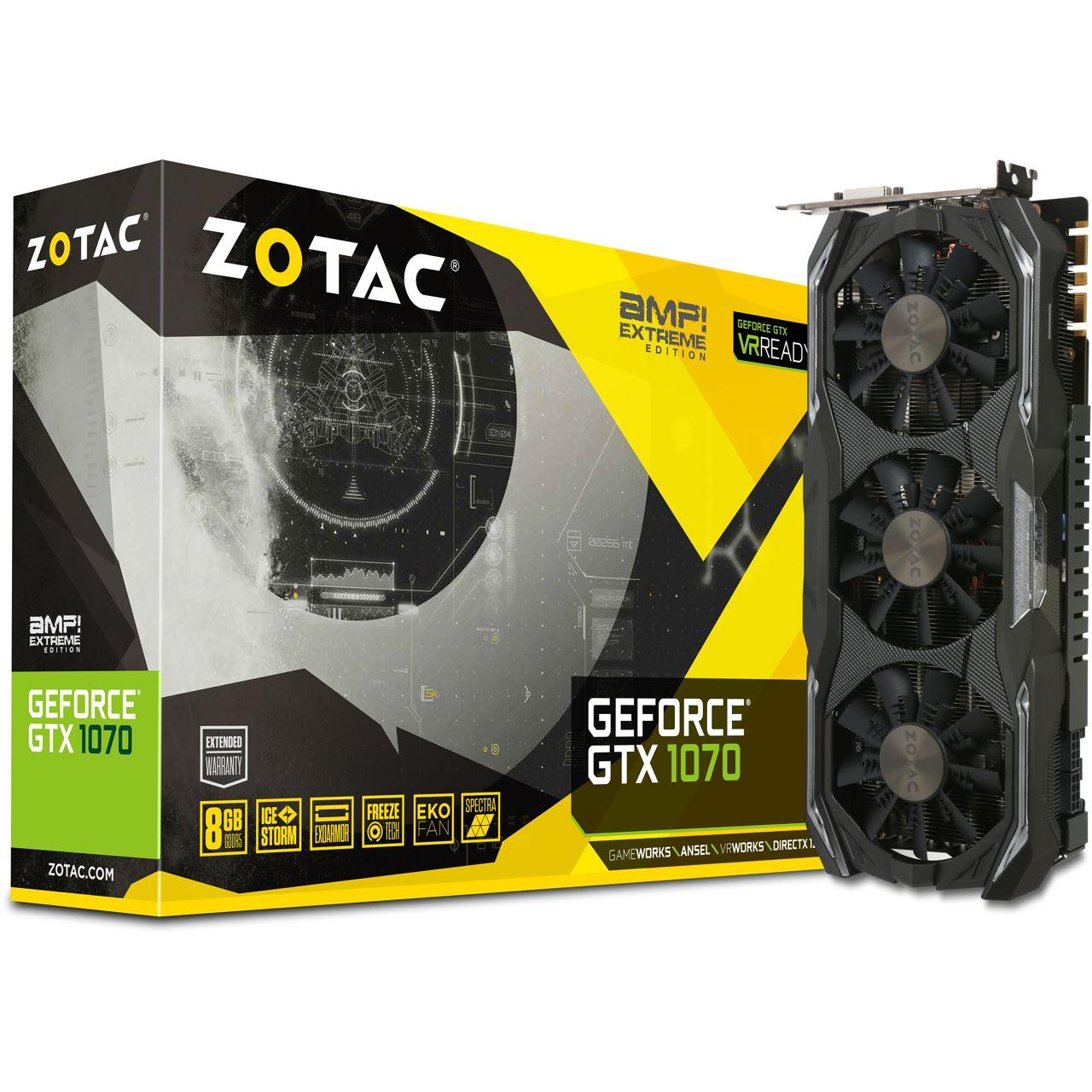 [Mindstar] 8GB ZOTAC GeForce GTX 1070 AMP! Extreme Edition VSKfrei
