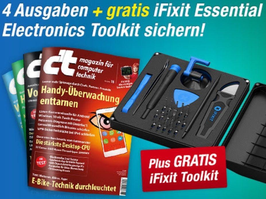 iFixit Toolkit + 4 Ausgaben des c't Magazins, Achtung Kündigung erforderlich