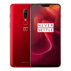 Oneplus 6 6.28 Zoll AMOLED 8GB 128GB Smartphone SD 845 NFC Red - Rot