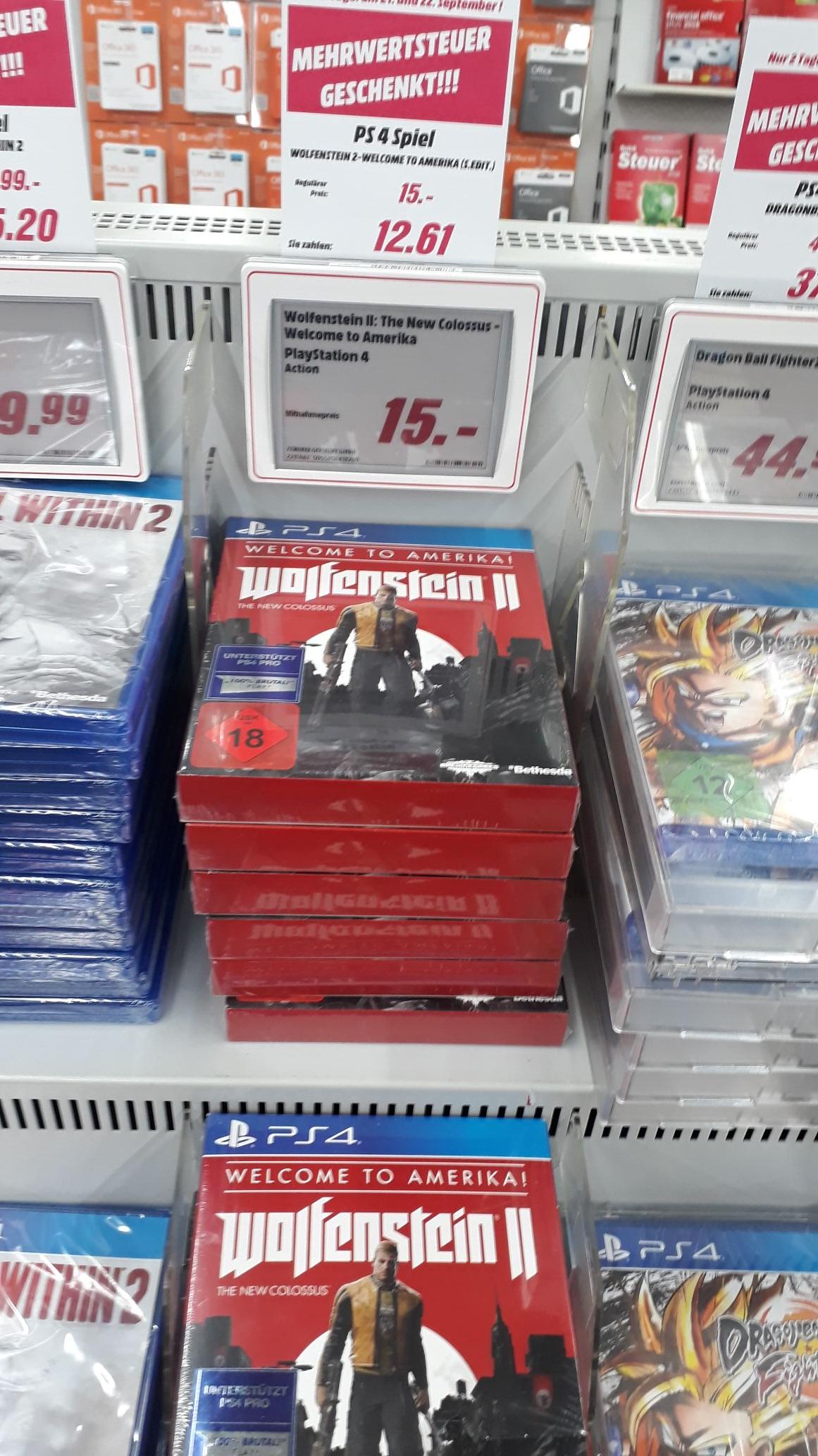 [Lokal] Mediamarkt Goslar - Wolfenstein 2 - Welcome to America Edition PS4