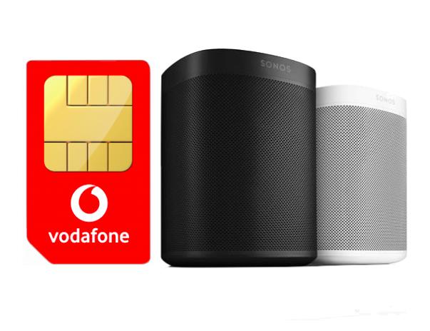 Vodafone DataGo L (12GB LTE) für 27,49€ / Monat inkl. 2 x Sonos One für 19,95€ Zuzahlung
