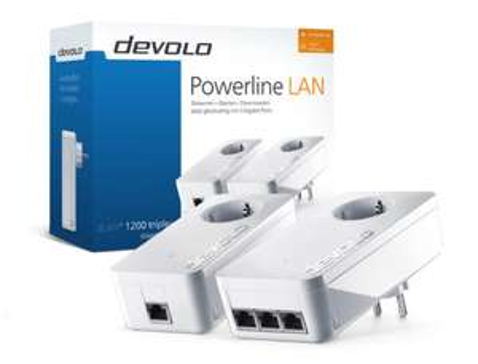 Bestpreis: Devolo dLAN 1200+ triple Starter Kit, Weiß Powerline