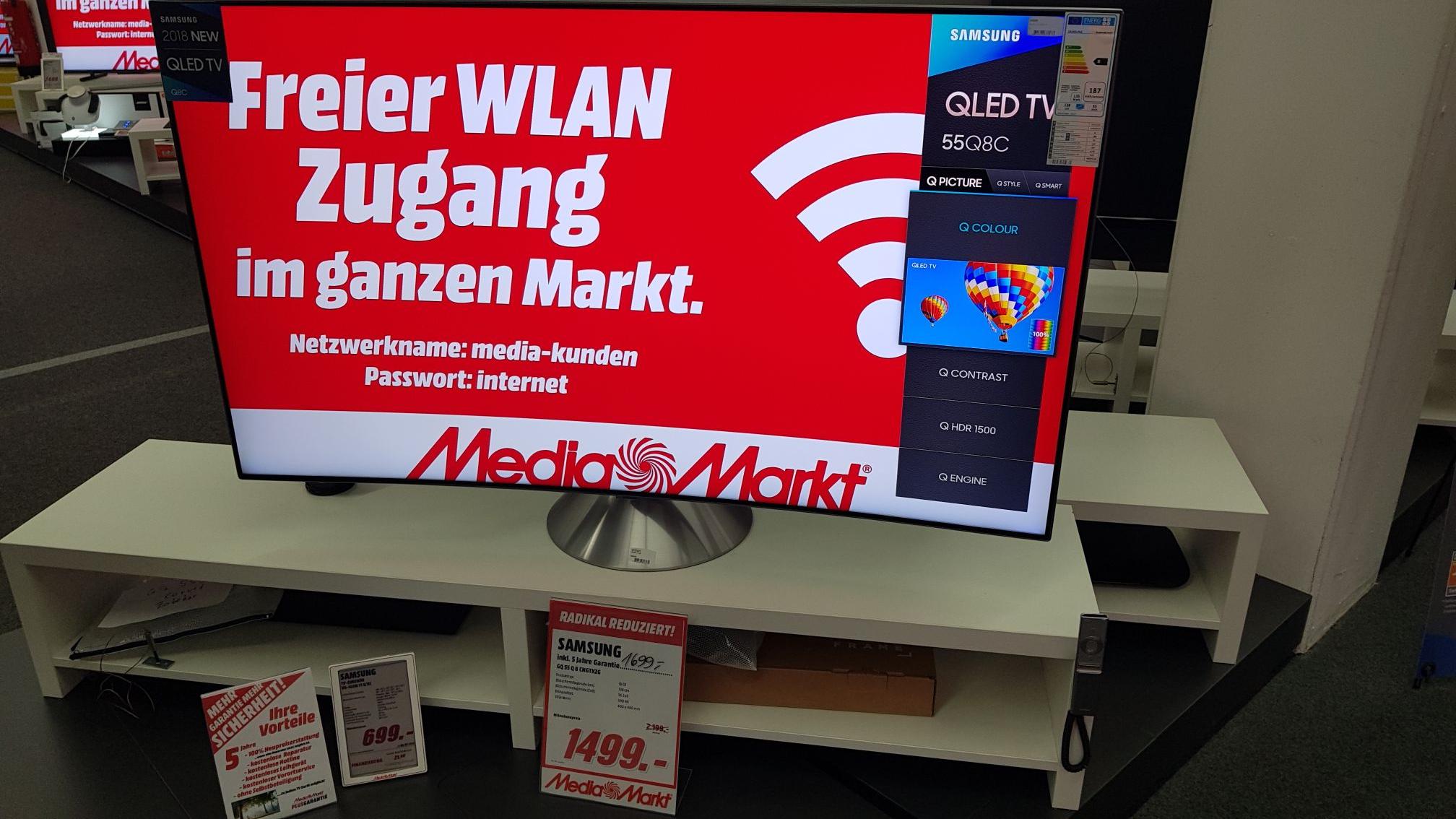Samsung GQ55Q8CN im Mediamarkt Wuppertal