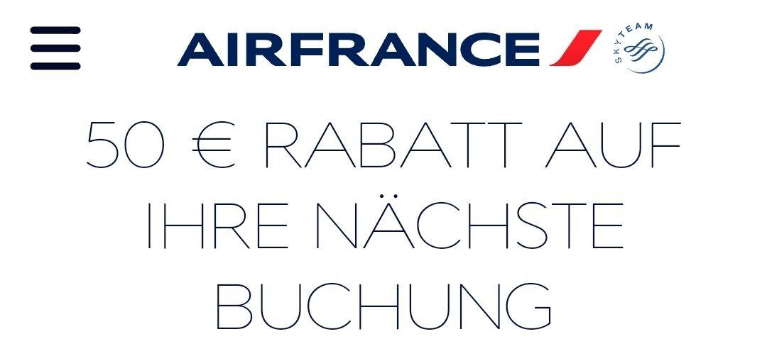 50€ Airmäßigung auf Flüge mit Air France