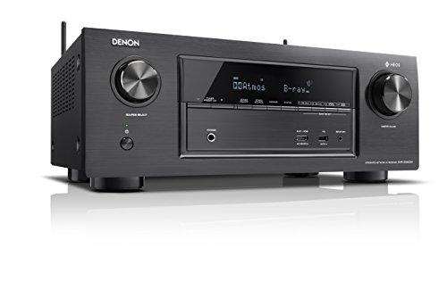 Denon AVRX3400H 7.2 Surround AV-Receiver (HEOS, Dolby Vision, Dolby Atmos, dtsX, WLAN, Bluetooth, Amazon Music, Spotify Connect, 2 HDMI Ausgänge, 7x 180 W  schwarz @ amazon