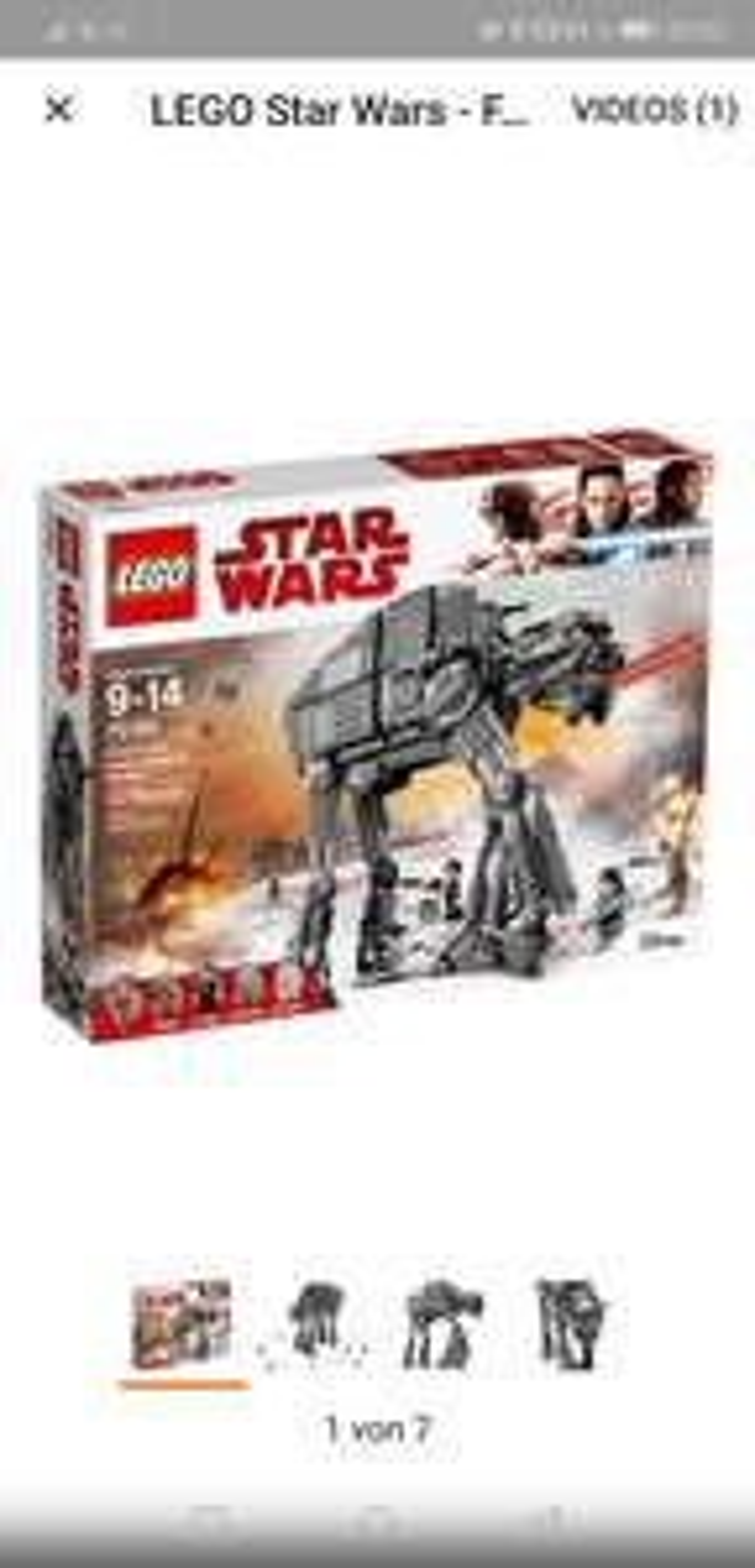 [Lokal Real 59555]LEGO Star Wars - First Order Heavy Assault Walker (75189) & Playmobil Action - Polar Ranger Hauptquartier (9055) für 25€