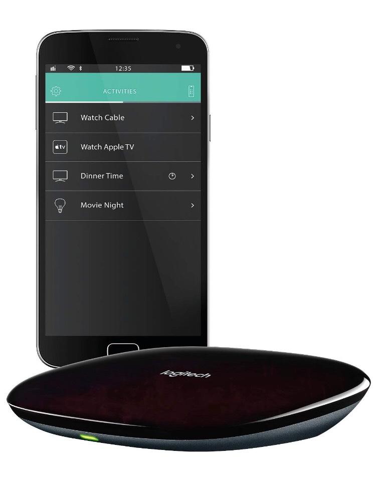 Logitech Harmony Hub (funktioniert mit Amazon Alexa), schwarz