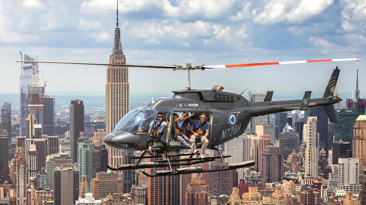 Hubschrauber-Erfahrung in New York City, Miami, Los Angeles, San Francisco mit 45% Rabatt - offene Türen Hubschrauber und geschlossene Tür
