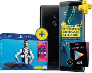 Magenta Mobil M (Young) mit Sony XZ3 + Playstation 4 Slim + Fifa 19 + PS Plus + 50€ Playstore [Telekom]