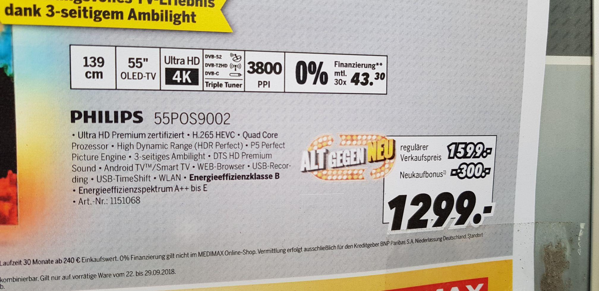 Philips 55POS9002 OLED TV MediMax Wernigerode