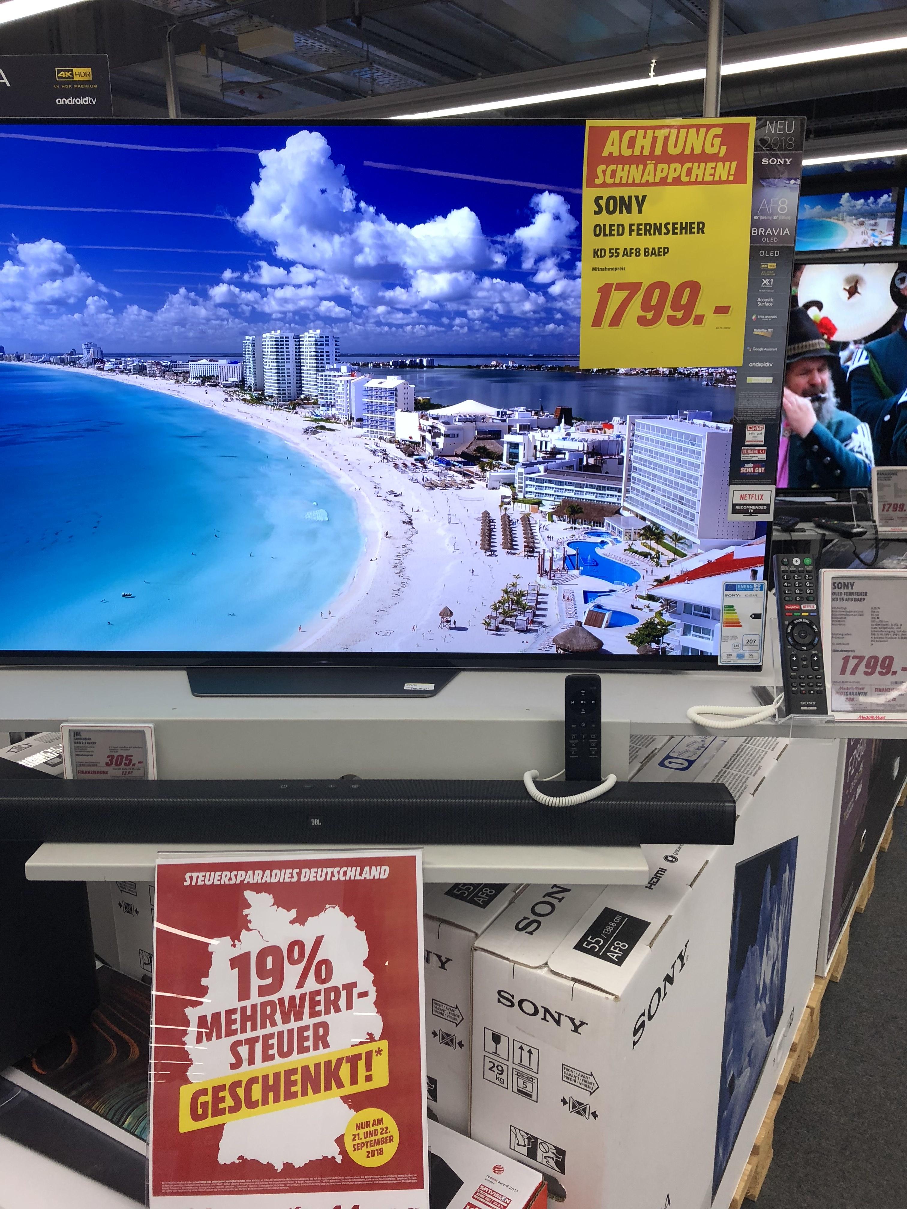 Sony AF8 55 Zoll Media Markt (Lokal) Sindelfingen Breuninger