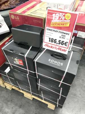 Sonos Play 3 für 186,56€ [Lokal Media Markt Köln City am Dom]
