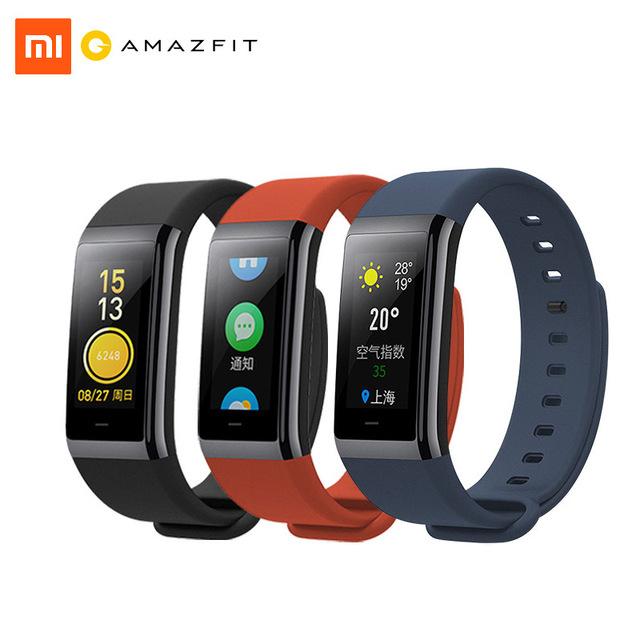 Xiaomi Huami AMAZFIT Cor Smartband Bluetooth 4,1 Smart Band  Herz Rate Monitor 50m Wasserdicht Grau + Rot aus EU !