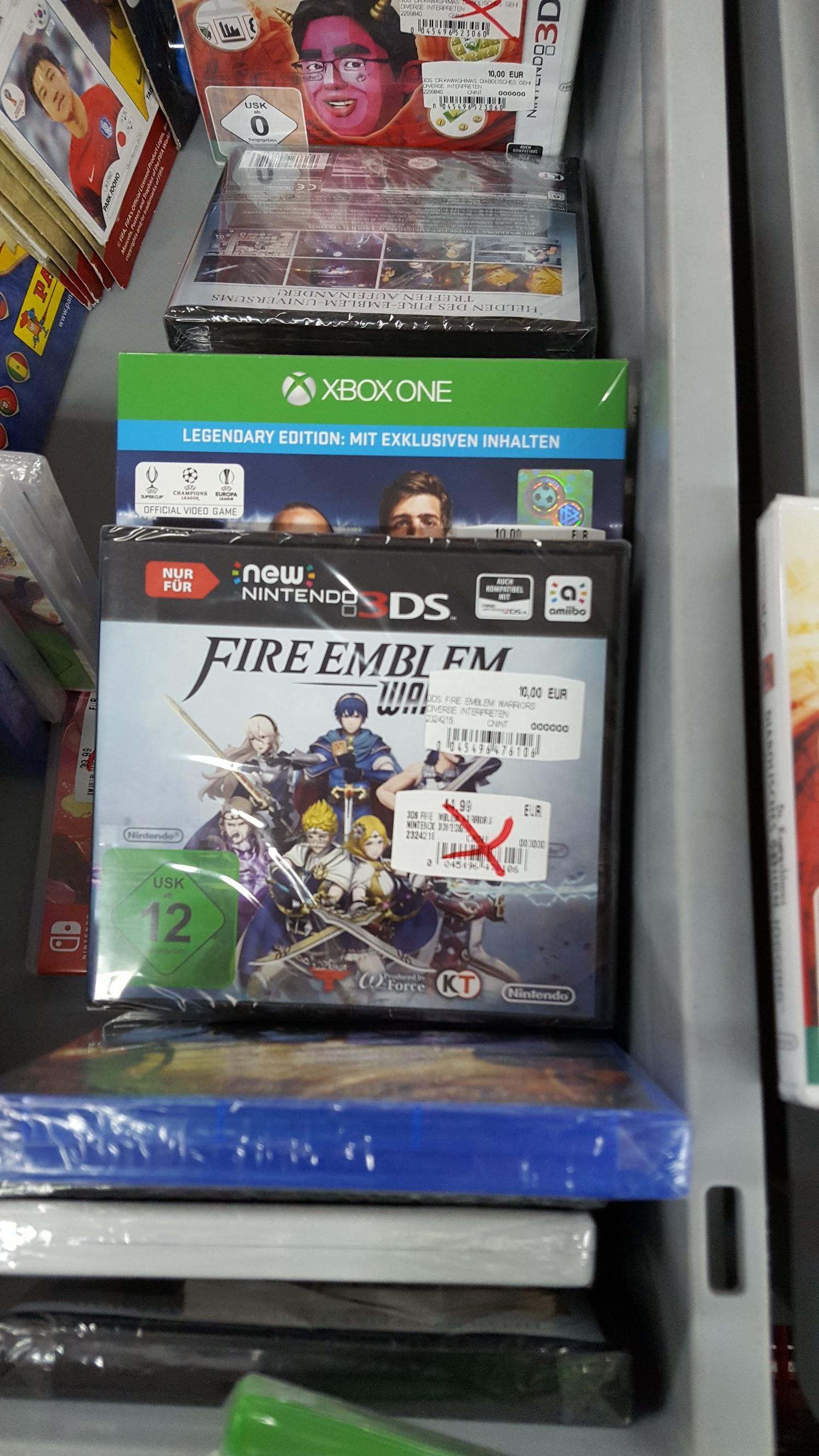 Sammeldeal Lokal [Media Markt Herzogenrath] Fire Emblem, Destiny 2, Dragons Dogma, NHL 18, 2K18, PES 2018, Ultra Street Fighter 2