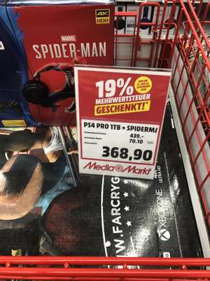 [LOKAL] Media Markt MTZ Sulzbach PlayStation 4 Pro 1TB + Spider-Man Bundle